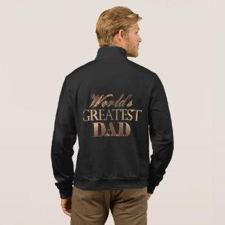 Gold Elegant Typography World's Greatest Dad Jacket