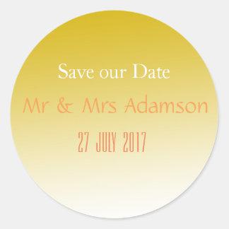 Gold Elegant Wedding Sticker