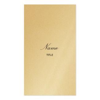 Gold Elegante Vertical Business Card Template