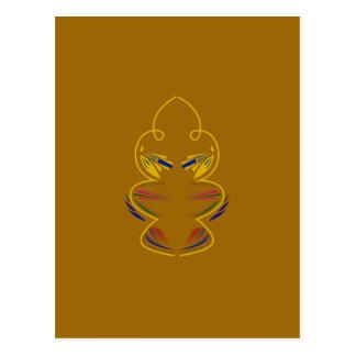Gold elements mandala postcard