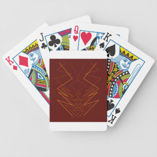 Gold elements on choco zig zag bicycle playing cards