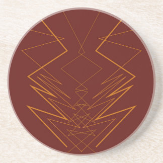 Gold elements on choco zig zag coaster