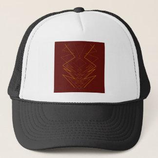 Gold elements on choco zig zag trucker hat