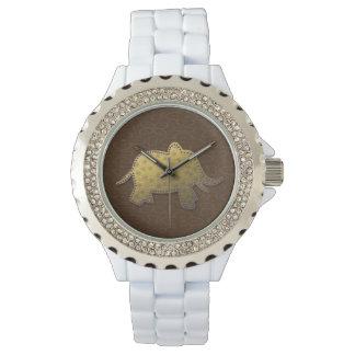 gold elephant - chocolate watch