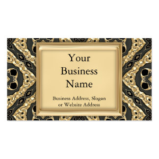 Gold Embossed Lace Double-Sided Standard Business Cards (Pack Of 100)