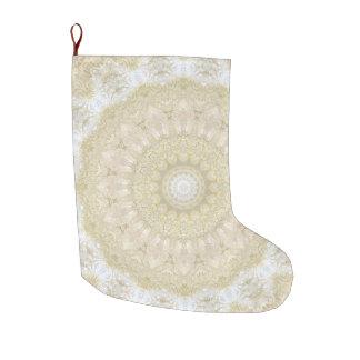 Gold Embroidery-Look Mandala Christmas Large Christmas Stocking