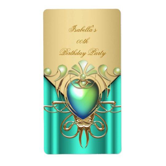 Gold Emerald Jade Green Elegant Birthday Party