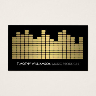 Gold Equalizer Musician, DJ, Band Business Card