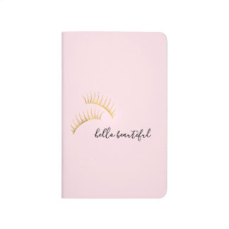 Gold Eyelashes Hello Beautiful Journal