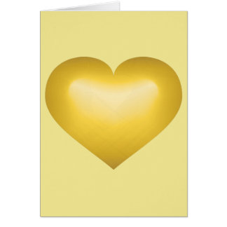 Gold fade heart - blank inside card