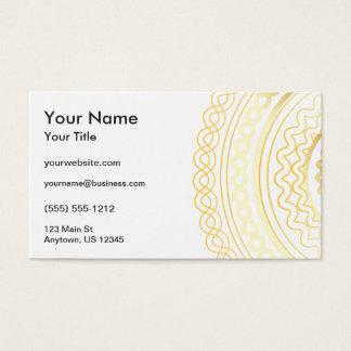 Gold Fancy Business Card
