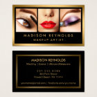 Gold Fashion Makeup Artist Photo Showcase Business Card