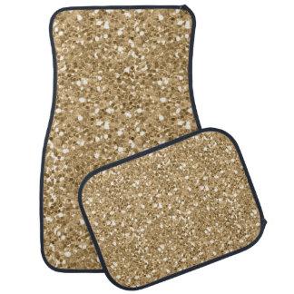 Gold Faux Glitter Car Mat