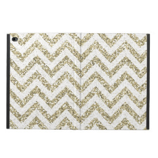 Gold Faux Glitter Chevron Powis iPad Air 2 Case