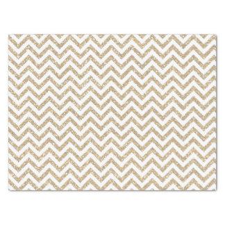 Gold Faux Glitter Chevron Tissue Paper