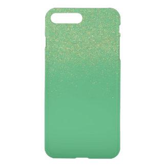 Gold Faux Glitter Green iPhone 7 Plus Case