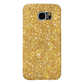 Gold Faux Glitter Pattern Girly Bling Samsung Galaxy S6 Cases