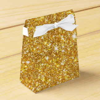 Gold Faux Glitter Sparkle Girly Favour Box
