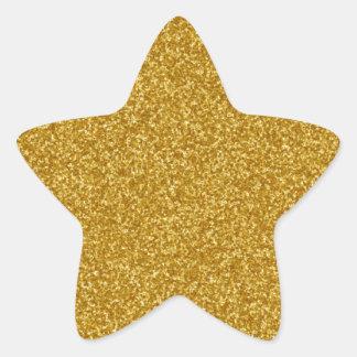 Gold Faux Glitter Sticker