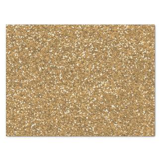 Gold Faux Glitter Tissue Paper