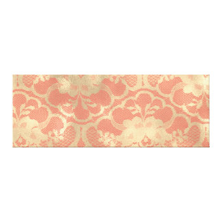 Gold Faux Sepia Royal Lace Burgundy Coral Candy Canvas Print