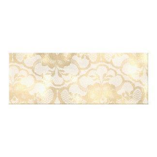 Gold Faux Sepia Royal Lace Canvas Print