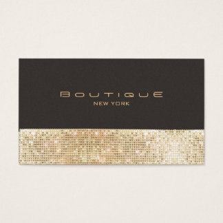 Gold FAUX Sequins Suede Look Beauty & Chic Fashion Business Card