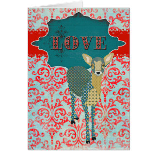 Gold Fawn Love Greeting Cards