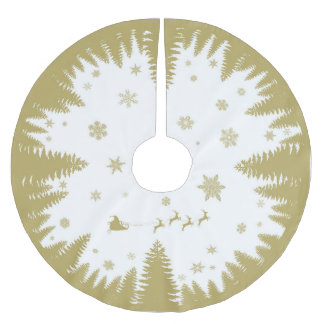 Gold Festive Christmas Tree Skirt