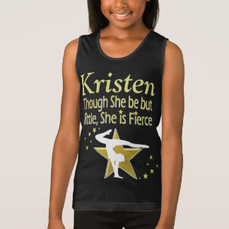 GOLD FIERCE GYMNAST PERSONALIZED TANK TOP