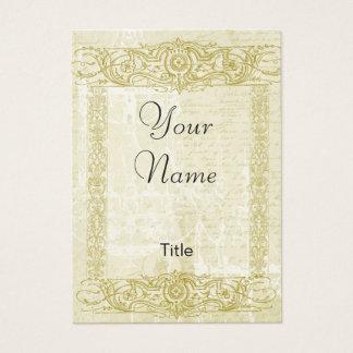 Gold Filigree Elegant Business Cards