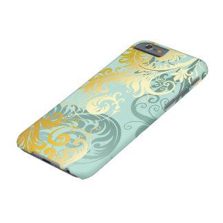 Gold Filigree on Sea Foam Green iPhone Case #1