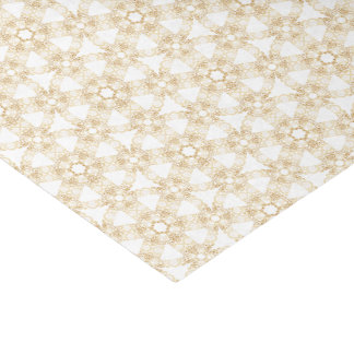 Gold Filigree on White - Tissue Paper