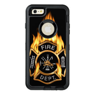 Gold Fire Department Flaming Badge OtterBox iPhone 6/6s Plus Case