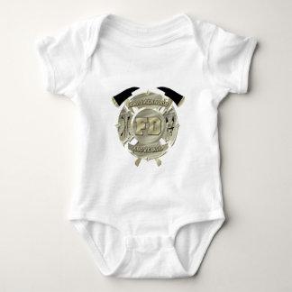 Gold Firefighter Brotherhood Symbol Baby Bodysuit
