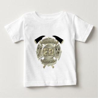 Gold Firefighter Brotherhood Symbol Baby T-Shirt