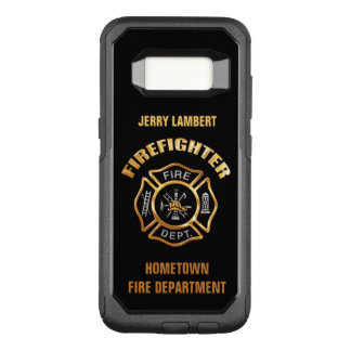 Gold Firefighter Name Template OtterBox Commuter Samsung Galaxy S8 Case