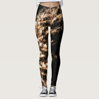 Gold Fireworks Leggings