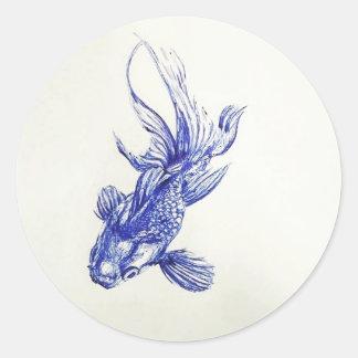 Gold Fish Classic Round Sticker