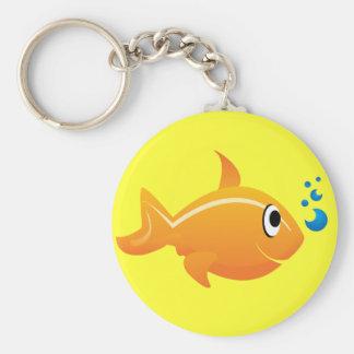 Gold Fish Keychain