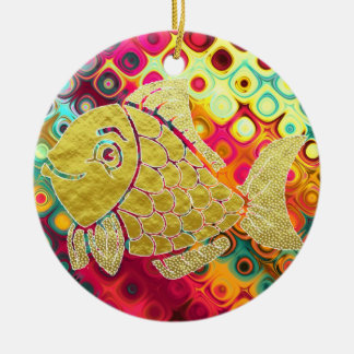 Gold Fish Life Ornament