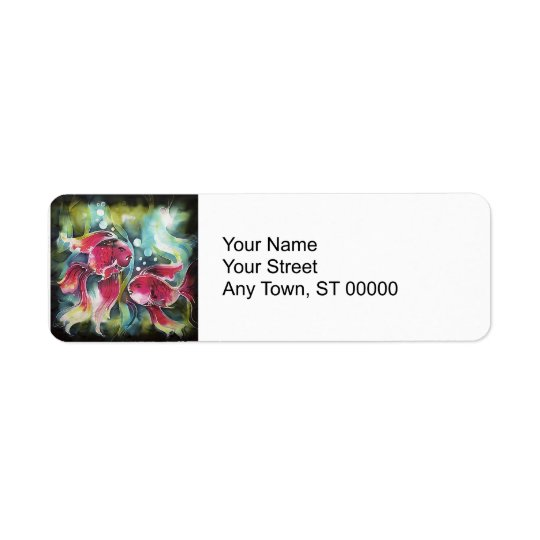 Gold Fish Luminosity Return Address Label