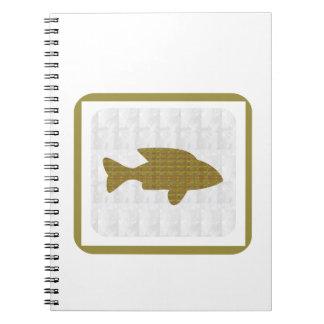 GOLD Fish Pet Aquatic Zoo NVN281 Greetings kids Spiral Note Book