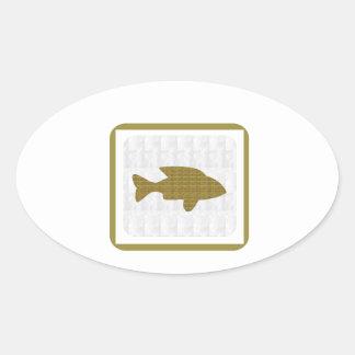 GOLD Fish Pet Aquatic Zoo NVN281 Greetings kids Stickers
