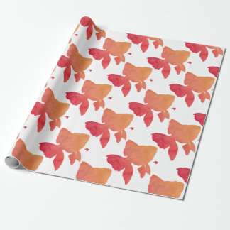 gold-fish-sunset design wrapping paper
