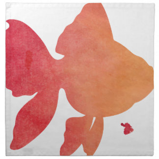 gold-fish-sunset napkin