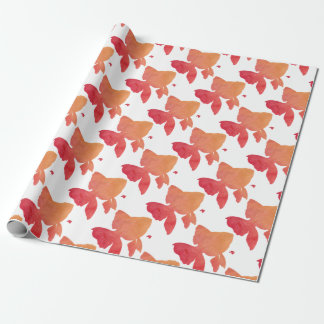 gold-fish-sunset. wrapping paper