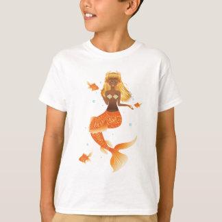 Gold Fish Tail Mermaid T-Shirt