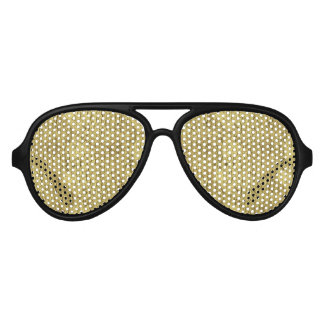 Gold Flakes Aviator Sunglasses
