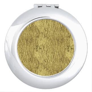 Gold Flakes Travel Mirrors